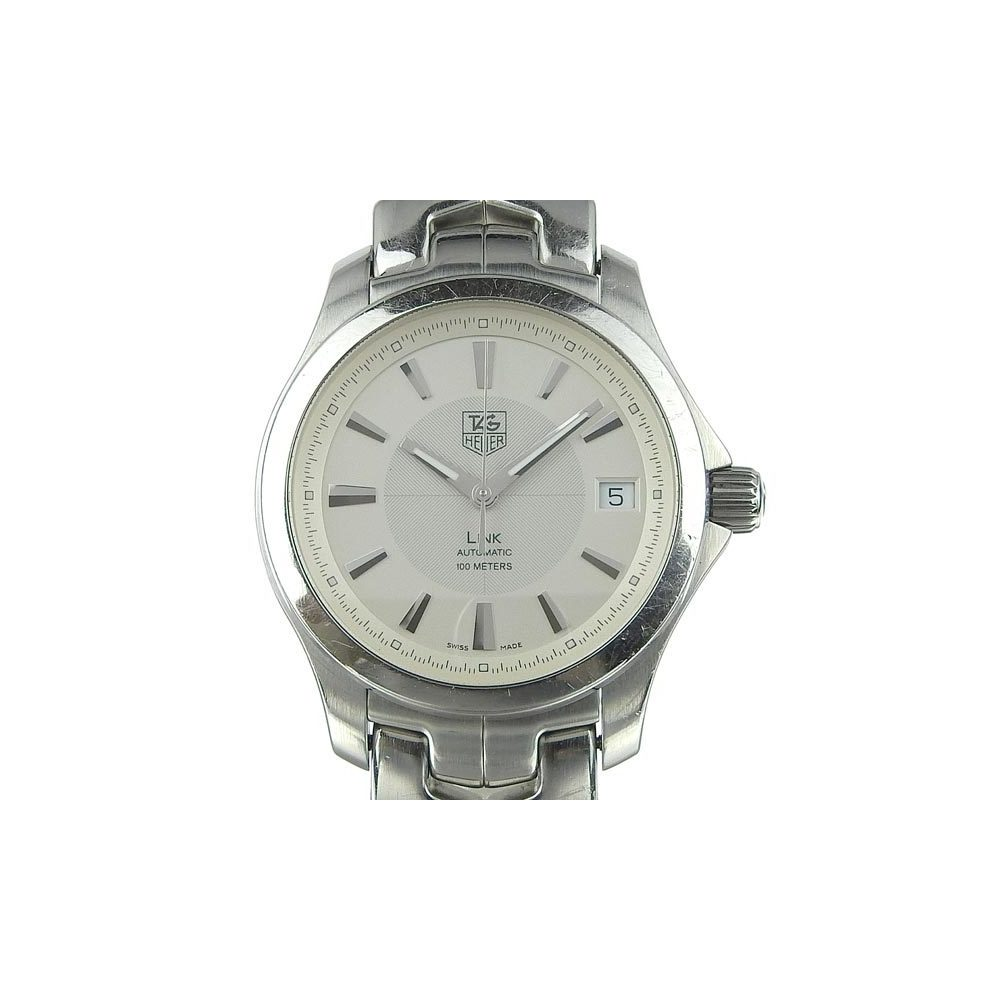 Genuine Tag Heuer Ring Men's Automatic Watch White Dial Wjf 2211