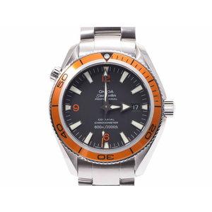 Used Omega Seamaster Planet Ocean 2209.50 Ss Black Case Watch Men's ◇