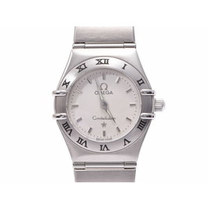 Second Hand Omega Constellation Mini 1562.30 White Dial Ss Quartz Ladies Watch