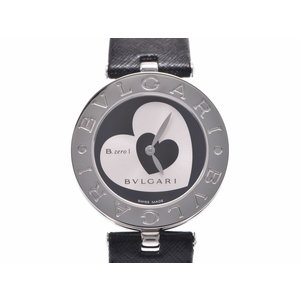 Used Bvlgari B - ZERO watch BZ 30 SS / leather heart character ground quartz wristwatch BVLGARI