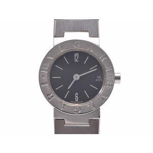 中古 ブルガリ ブルガリブルガリ23 BB23SSD SS 黒文字盤 クオーツ レディース 腕時計 BVLGARI