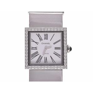 Second-hand Chanel Mademoiselle Bezel Diamond SS Quartz Wrist Watch CHANEL ◇