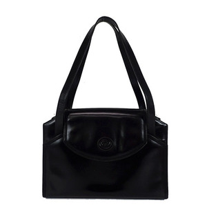 Auth Gucci ShoulderBag Leather Black