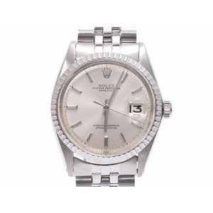 Rolex Datejust 1603 SS Silver dial plate automatic volume men's wristwatch ROLEX second hand silver storage