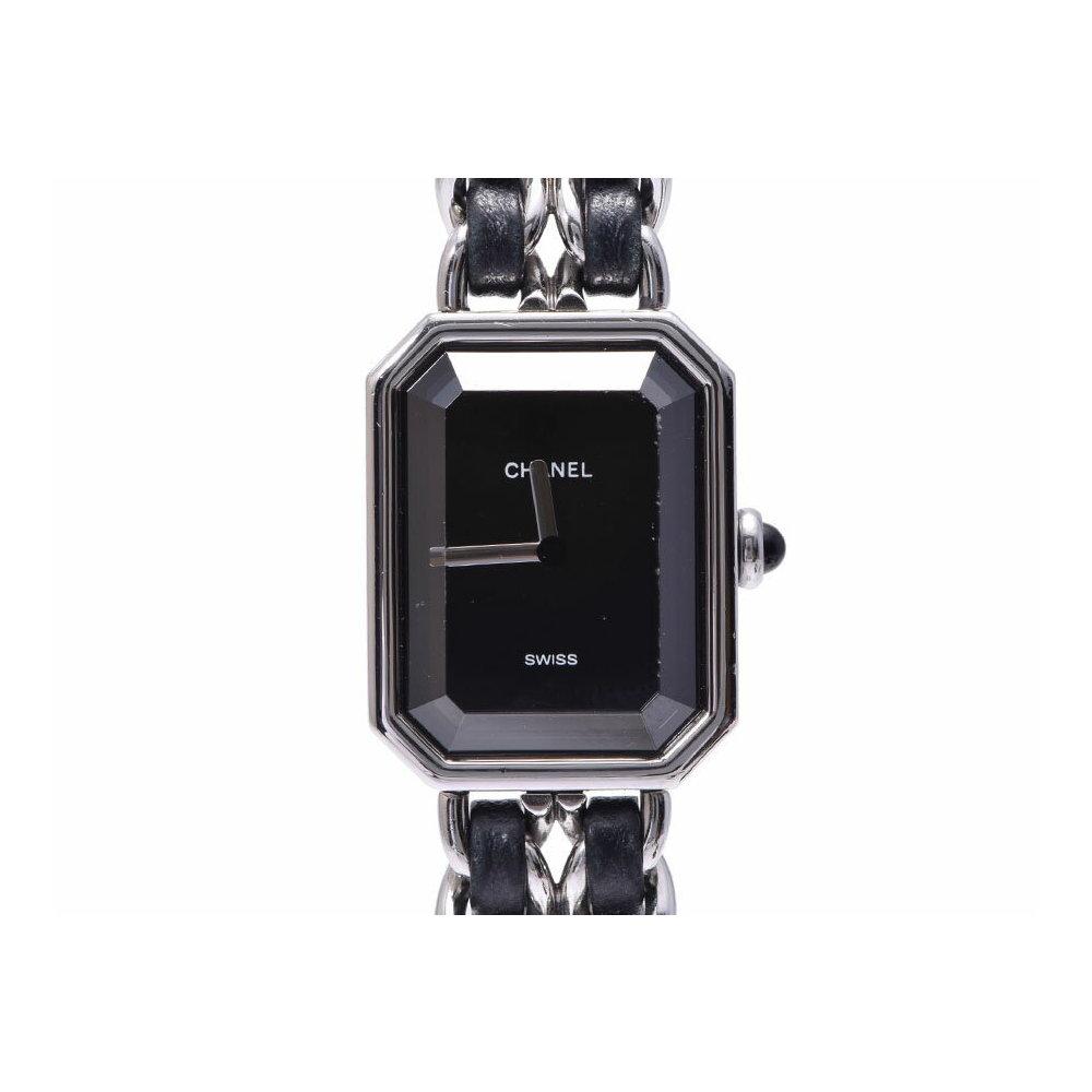 シャネル プルミエール H0451 新型 SS/革 黒文字盤 ギャラ クォーツ 腕時計 レディース CHANEL 中古 銀蔵