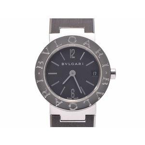 ブルガリ ブルガリブルガリ23 SS 黒文字盤 BB23SS クオーツ レディース 腕時計 BVLGARI 中古 銀蔵