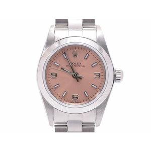 ロレックス パーペチュアル76080 A番 SS ピンク文字盤 箱 ギャラ レディース 腕時計 ROLEX 中古 銀蔵