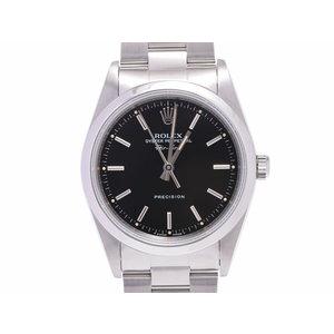 ロレックス エアキング 黒文字盤 14000 S番 メンズ SS 腕時計 Aランク 美品 ROLEX 中古 銀蔵