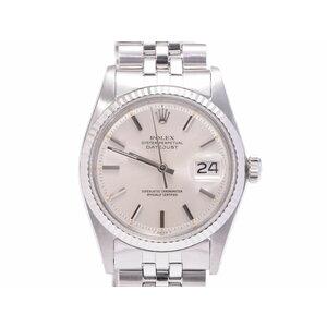 ロレックス デイトジャスト シルバー文字盤 1601 メンズ SS 腕時計 Aランク 美品 国サ保 自動巻 ROLEX 中古 銀蔵
