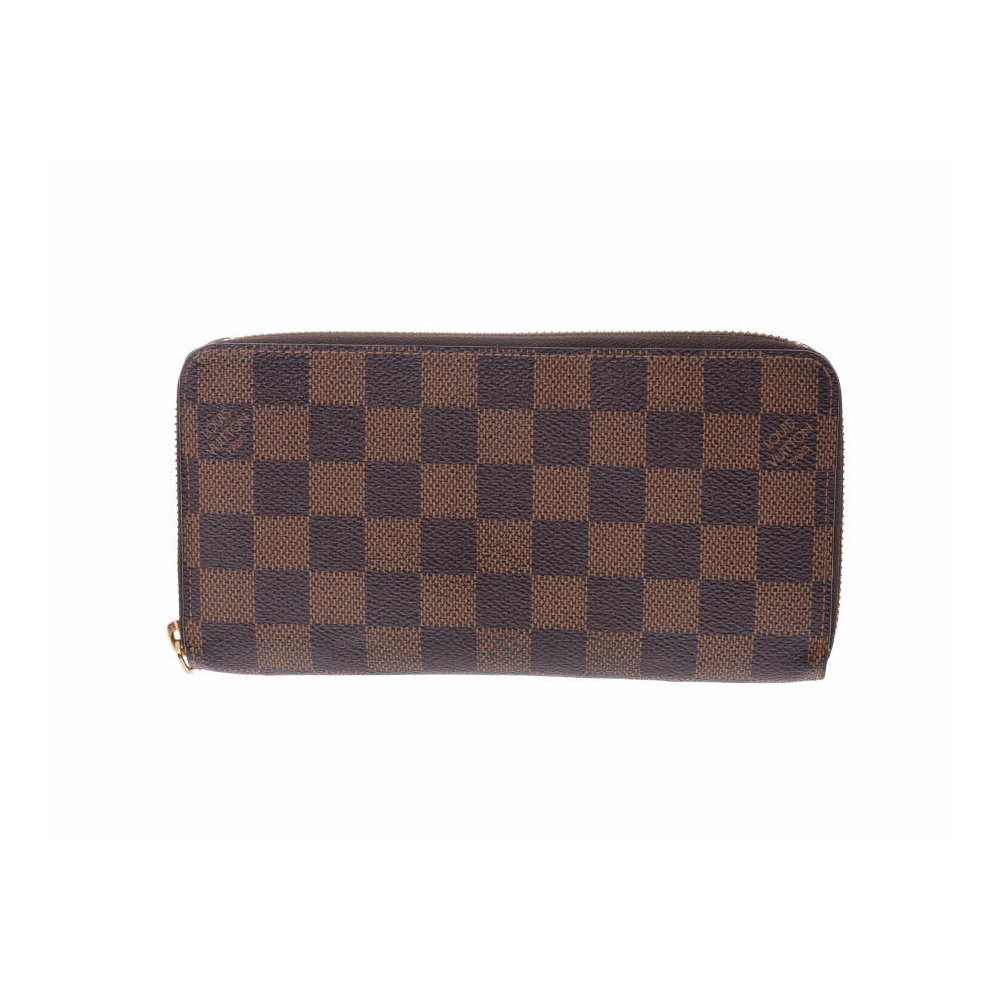 Louis Vuitton Damier Zippy Wallet Old Brown N60015 Men s Women s Genuine  Leather B Rank LOUIS VUITTON Used Ginza f63fd72bd