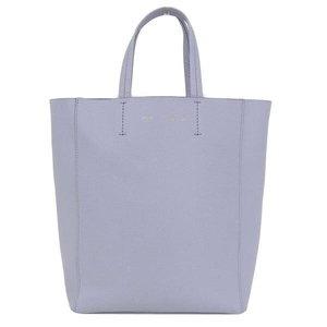 Genuine CELINE Celine Cava 2 Way Bag Leather Gray