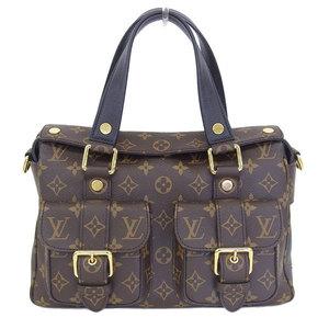 3986b4ce883b Real LOUIS VUITTON Louis Vuitton Monogram Manhattan New M44207 Bag Leather