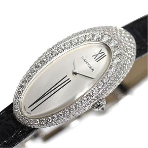Cartier Alcion Quartz WG Solid Diamond Silver Ladies Watch