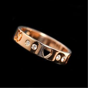 Gucci GUCCI icon Amoru Ring K18PG Diamond Ladies Jewelry Finished