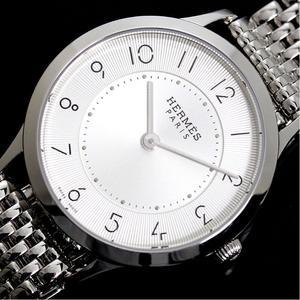 Hermès HERMES Slim de Hermes CA 2.210 quartz silver ladies watch finished