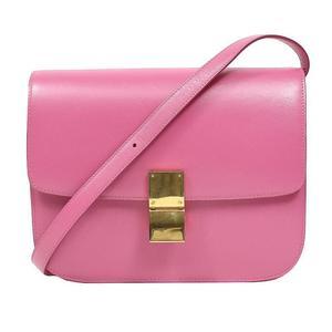 Celine CELINE Classic medium shoulder bag 164173 Pink ladies