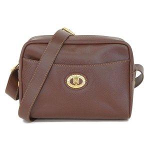 Burberry's Burberrys Front Gold Logo Inside Nova Check Shoulder Bag Brown
