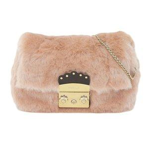 Furla FURLA 2017 product limited all-fur flower type metal fittings Metropolis chain shoulder bag Pink