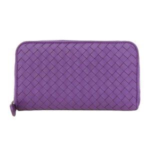 Bottega Veneta BOTTEGA VENETA Intoreza round zip wallet with purple