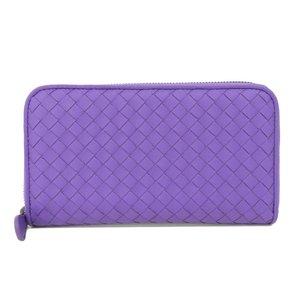 Bottega Veneta BOTTEGA VENETA intre leather round zip wallet with box