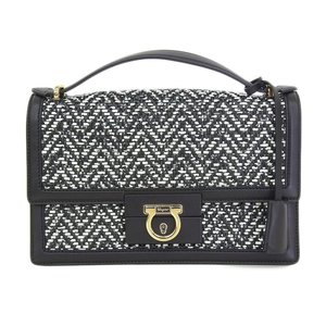 Salvatore Ferragamo Ferragamo FERRAGAMO AILEEN Irene 2way Bicolor Shoulder Bag Gancini Hardware
