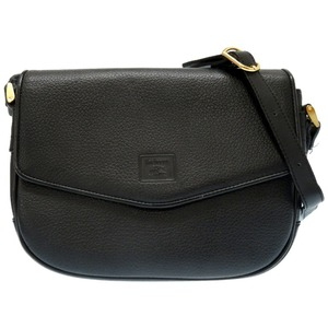Burberry's Burberry vintage leather shoulder bag inside check black diagonal 0448 BURBERRYS