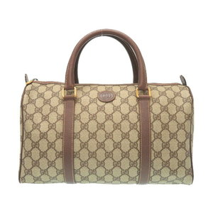 Gucci Old GG Canvas Mini Boston Bag 002 39 6842 Brown Handbag 0325 GUCCI
