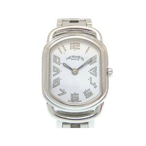 Hermes Rally RA 1.210 Quartz Wrist Watch SS White Dial 0354 HERMES Women's