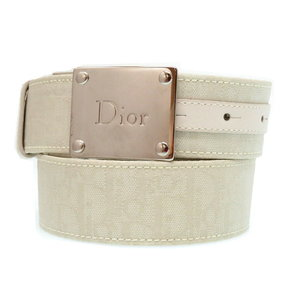 Christian Dior Trotter belt 85 Men's white 0068
