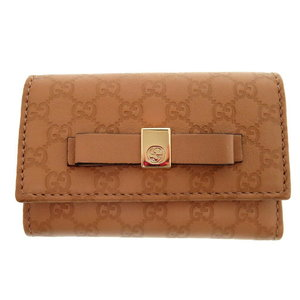 Gucci six consecutive Shima 388682 BMJ 1 G key case leather / beige 0052 GUCCI ladies'