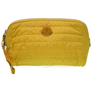 Unused moncler nylon pouch bag yellow 0036 MONCLER