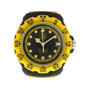 TAG Heuer Formula 1 380.513 / Yellow Black Quartz expression Boys Watch 0057 HEUER Unisex