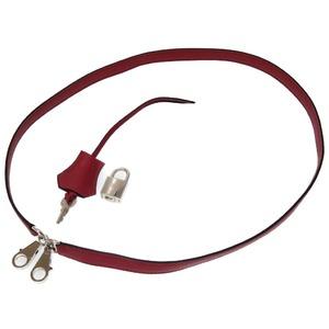 Hermes Vaud Swift Rouge Granada Shoulder Strap Crochet Cadena 0090 HERMES