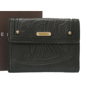 Unused Celine pearl wallet black leather 107493 0008 CELINE