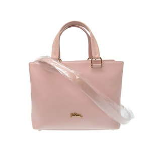 Longchamp Honore 2 Way Leather Shoulder Handbag Pink as New Brand 00436 LONGCHAMP