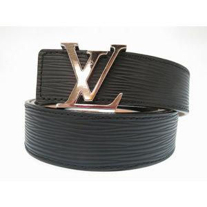 Louis Vuitton Episasture Inialial M9604Q Belt Black LV Male 0284 LOUIS VUITTON Men's