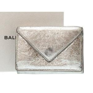 Balenciaga Mini Paper Wallet Leather Tri-Fold 391446 Silver 0071 BALENCIAGA