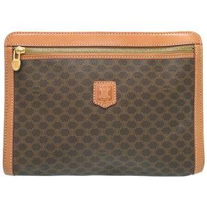 12cc45088b Celine Vintage Macadam PVC Leather Brown Clutch Bag 0144 CELINE Men s Second