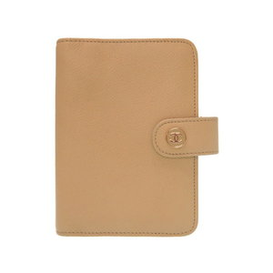 Chanel Coco Button Beige Leather Notebook Cover Agenda 0255 CHANEL