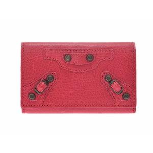 Balenciaga Classic 6 Sequential Key Case Red Ladies Lambskin New BALENCIAGA Box Used Ginza