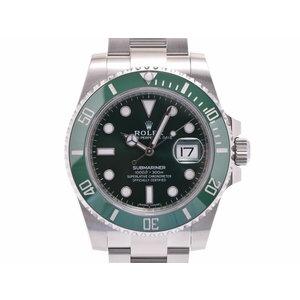 Rolex Submariner Green Dial Bezel 116610 LV Random Men's SS Automatic Watch A Rank Beautiful Item ROLEX Box Gala Used Ginza