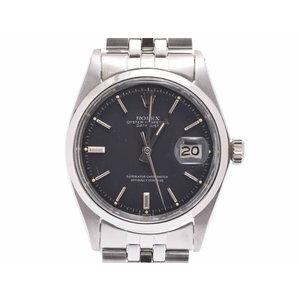 ロレックス デイトジャスト 黒文字盤 1600 アンティーク メンズ SS 自動巻 腕時計 ABランク ROLEX 中古 銀蔵