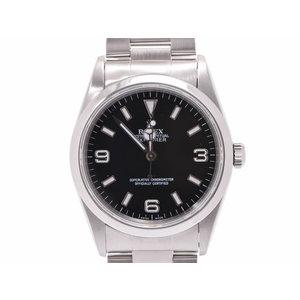 ロレックス エクスプローラ1 黒文字盤 14270 A番 メンズ SS 自動巻 腕時計 Aランク 美品 ROLEX ギャラ 中古 銀蔵