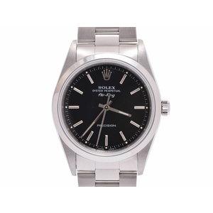 ROLEX AIRKING black letter board 14000 U Men's SS automatic winding wristwatch A rank 美 品 GALA Used Ginza