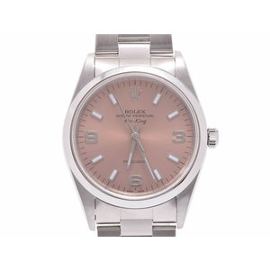 Rolex Air King Pink Dial 14000 A Men's Women's SS Automatic Watch Rank Beautiful ROLEX Used Ginza