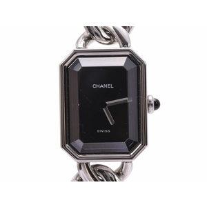 シャネル プルミエール Mサイズ 黒文字盤 H0452 レディース SS クオーツ 腕時計 Aランク CHANEL 中古 銀蔵