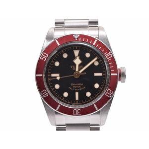 チュードル ヘリテージ ブラックベイ 黒文字盤 赤ベゼル 79220R メンズ SS 自動巻 腕時計 Aランク 美品 TUDOR 箱 ギャラ 中古 銀蔵