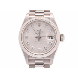 Rolex Datejust Silver Dial 79179 G P Women's WG Automatic Watch A Rank Beautiful Item ROLEX Galleries Used Ginza