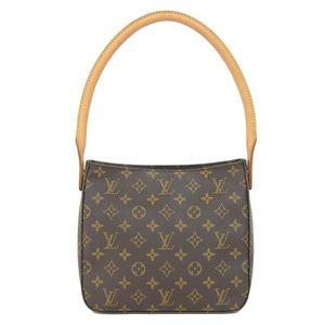 8c3af447716 Real LOUIS VUITTON Louis Vuitton Monogram Looping MM M 51146 Bag Leather