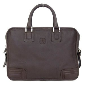 Real LOEWE Loewe Leather Amazona 2 Way Briefcase Tea Bag